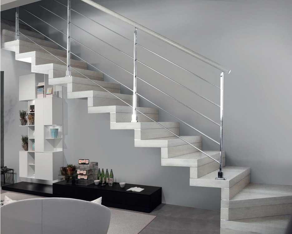 Scale interne sospese scala dritta a l con gradini in legno senza alzata with scale interne - Progetto scale interne ...