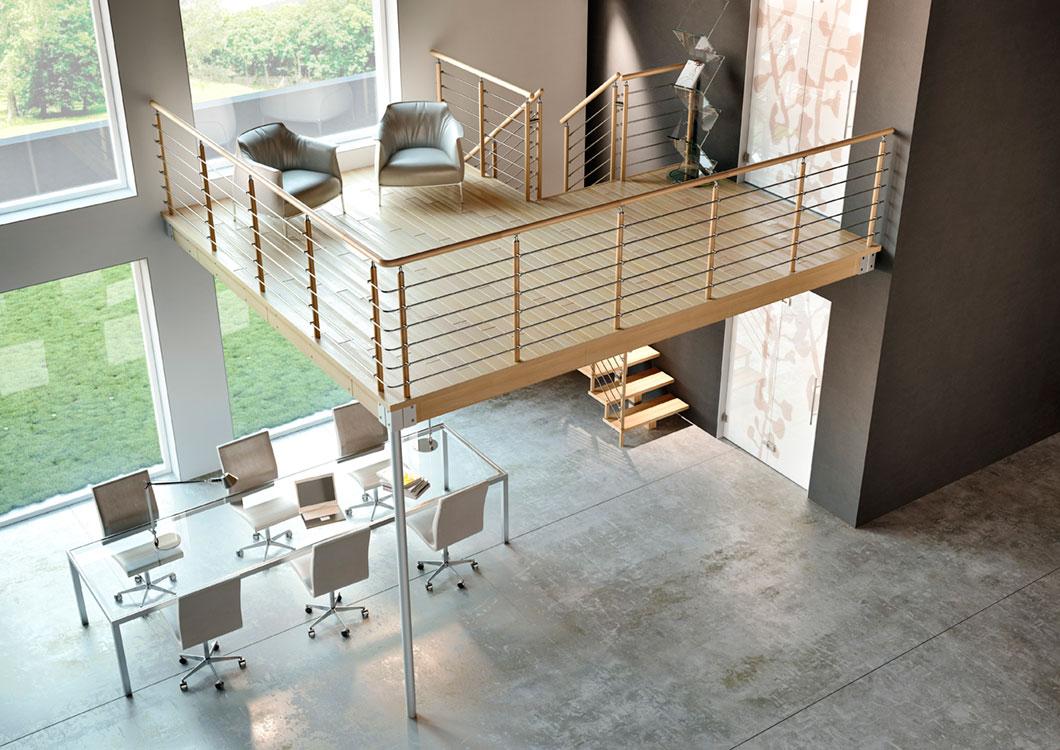 Soppalchi milano progettiamo e realizziamo da scalemilano - Soppalco in legno autoportante ...