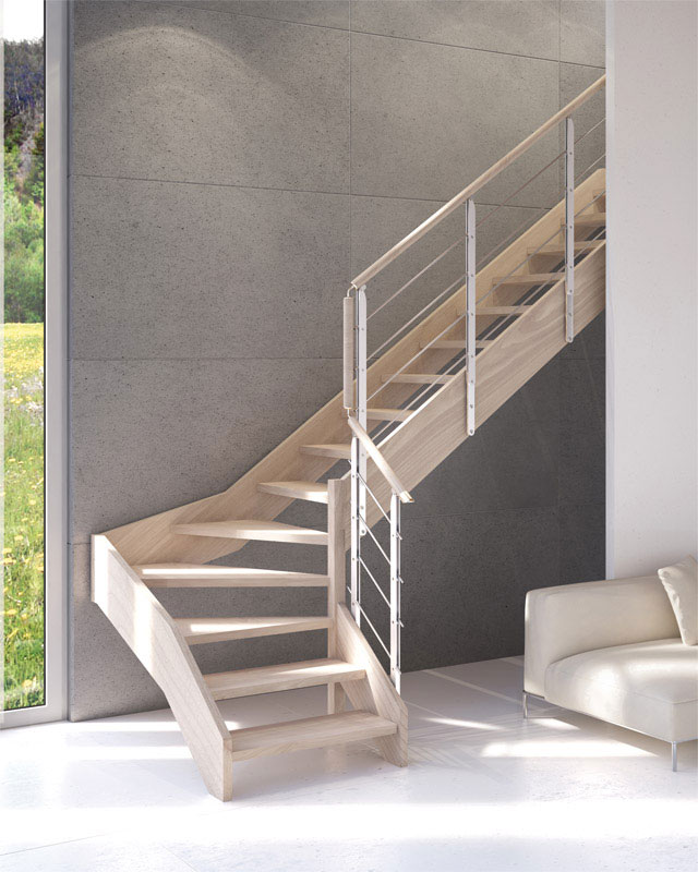 Perch scegliere una scala in legno scale milano - Scale rivestite in legno per interni ...